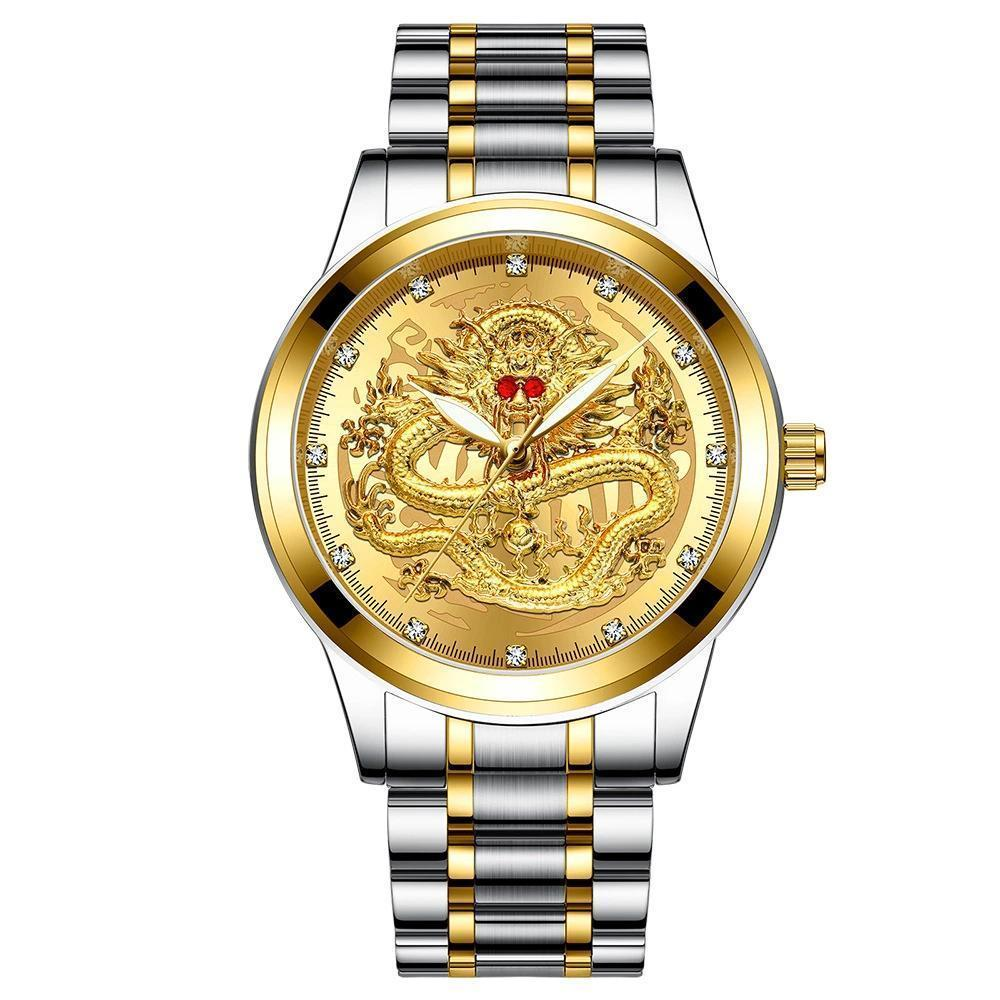 [Free shipping over 29$] Golden luxury waterproof fashion watch (Buy 3 Get 1 Free!))