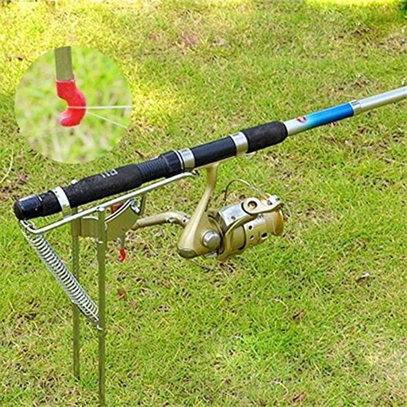 (BUY 2 FREE SHIPPING)Spring Fishing Rod Holder Automatically Pulls Back When Fish Detected