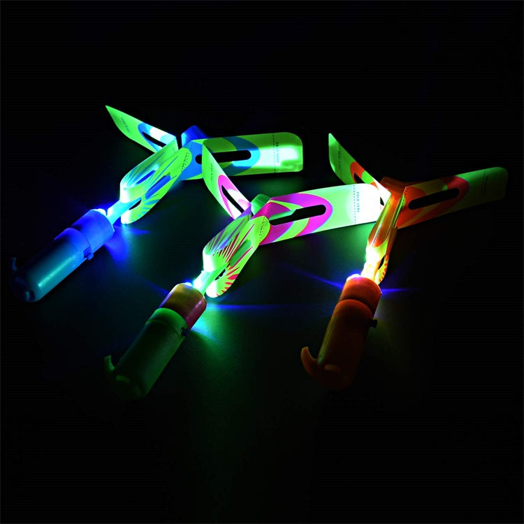 Rocket Slingshot Flying Copters with Led Lights