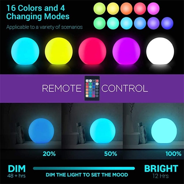 16 Colors Changing Floating Pool Lights