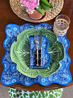 LCA Scallop Placemats/Napkins - 'Dusty Blues & Grey' (set 4)