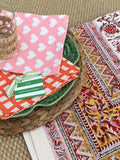 LCA Tablecloth 270x 180cm  (8-10 seater) Pink Red Mustard