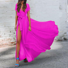 Load image into Gallery viewer, Sexy V-Neck Chiffon Vacation Dresses