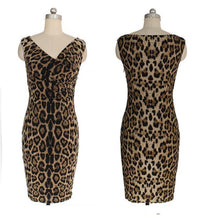 Load image into Gallery viewer, Sexy Leopard Bodycon Dress