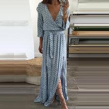 Load image into Gallery viewer, V-Neck Plain Maxi Dresses