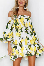 Load image into Gallery viewer, Elegant Random Off Shoulder Floral Print Mini Dress
