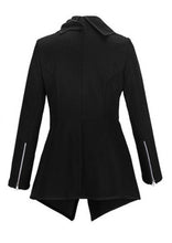 Load image into Gallery viewer, Lapel  Plain Front Wrapped Outerwear