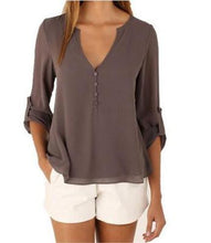 Load image into Gallery viewer, Blouse Shirt V Neck Plus Size