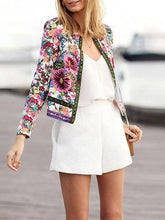 Load image into Gallery viewer, Women's Jacket Floral Printed Coat Outwear