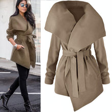 Load image into Gallery viewer, Woolen Coat With Belt