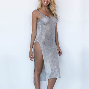 Sexy Perspective Sling Beach Vacation Dress