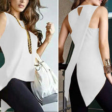 Load image into Gallery viewer, Fashion Plain Irregular Split T-Shirt