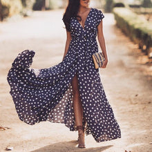 Load image into Gallery viewer, Sexy Floral Print Sleeveless Maxi Dress