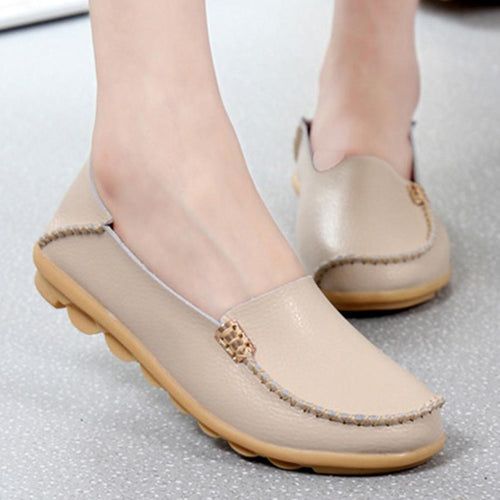 Plain  Flat  Round Toe  Casual Flats & Loafers