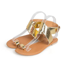 Load image into Gallery viewer, Fashion Pure Color Open Toe Flat Beach Sandals