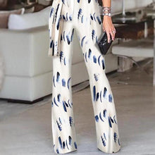 Load image into Gallery viewer, Fashion One Shoulder Slit Sleeve Jumpsuit