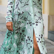 Load image into Gallery viewer, Sexy Floral Print Long Sleeves Maxi Dress