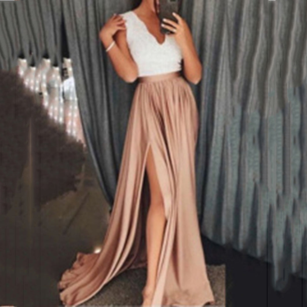 Half-Split Half-Length Evening Dress