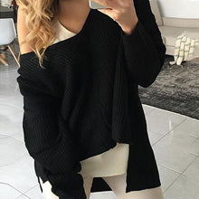 Load image into Gallery viewer, Fashion Simple Autumn Pure Color Sweater