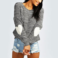 Load image into Gallery viewer, Elbow Love Patch Long Sleeve Sweater
