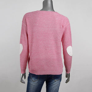 Elbow Love Patch Long Sleeve Sweater