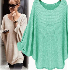 Solid Color Fashion Sweater