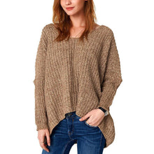 Load image into Gallery viewer, Solid Color V-Neck Loose Padded Sweater