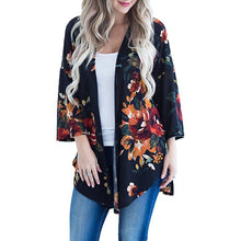 Load image into Gallery viewer, Oil Painting Make-Up Print Kimono Cardigan