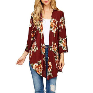 Oil Painting Make-Up Print Kimono Cardigan