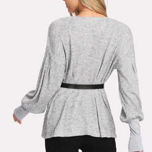 Fashion Sexy Plian Long Sleeve T-Shirt