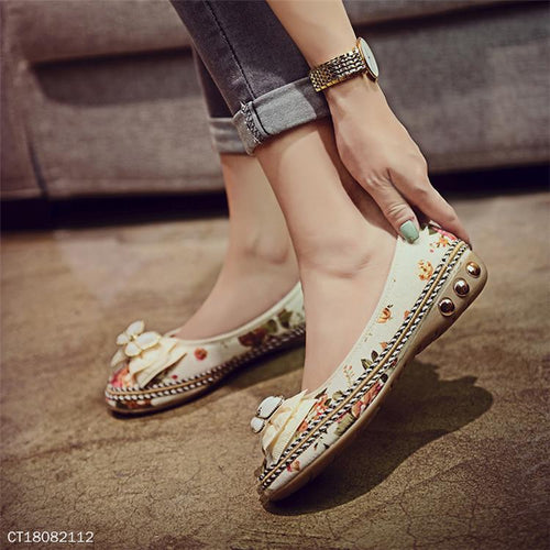 Bowknot Casual Women Slip On Round Toe Flats