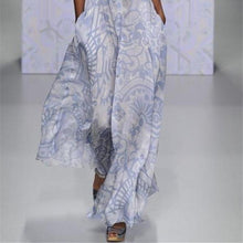 Load image into Gallery viewer, Long-Sleeved Printing Casual Maxi Dress