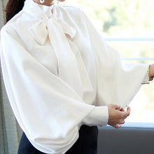 Load image into Gallery viewer, Casual Chiffon Bishop Sleeve Pure Colour Shirt