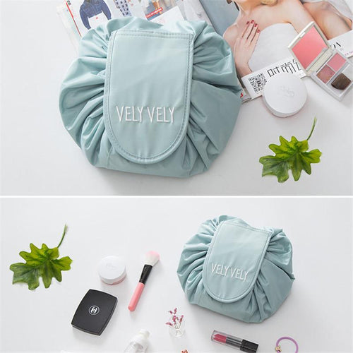 Lazy makeup bag portable travel large capacity drawstring storage bag shrink cosmetic bag