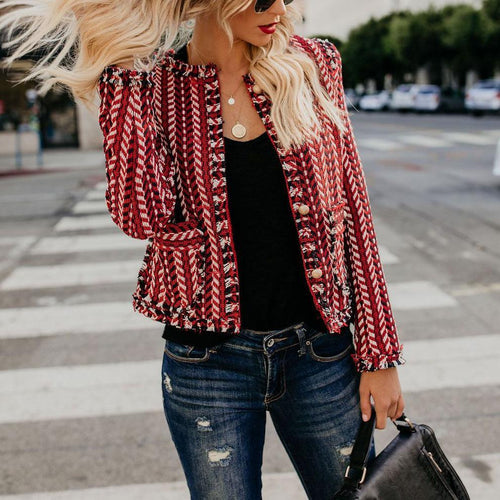 Fashion Printed Long Sleeve Jacket