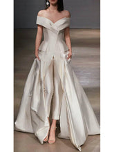 Load image into Gallery viewer, Fashion V Neck Off-Shoulder Pure Colour Evening Dress