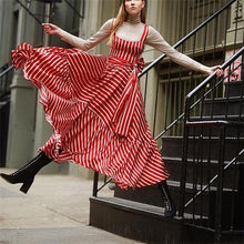 Load image into Gallery viewer, Vintage Striped  Maxi Dress