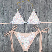 Load image into Gallery viewer, Sexy Sequins Split Bikini Swimsuit