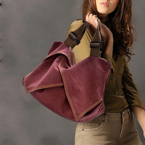Fashion Canvas Large Capacity Personality Single Shoulder Messenger Bag