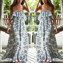 Load image into Gallery viewer, Bohemian Off-Shoulder Printing Strap Vacation Dress