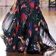 Load image into Gallery viewer, Fashion Single Printed Chiffon Maxi Dress
