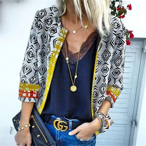 Autumn And Winter   Fashion Printing Family Style Jacket