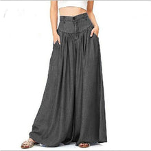 Load image into Gallery viewer, Bohemian Casual Plain Wide Leg Pants