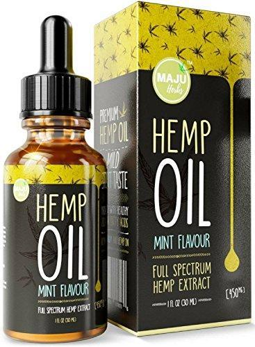 Hemp Oil Extract (450 mg), Strong Full Spectrum Pain & Anxiety Relief, Mild  Mint Flavor, Zero THC CBD Cannabidiol, 100% Colorado Hemp, 450 mg Pure