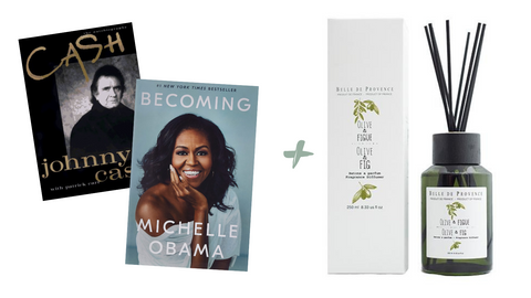 If you love reading biographies try the Belle de Provence Olive & Fig Fragrance Diffuser