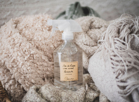 Linen water is great in a pinch for a quick, fragrant solution