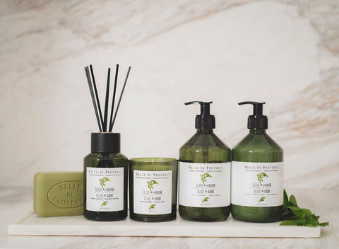 Belle de Provence's Olive Oil collection is infused with olive leaf extract from Provence