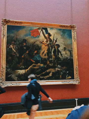 Eugène Delacroix, Liberty Leading the People in the Musée du Louvre (Pexel image)