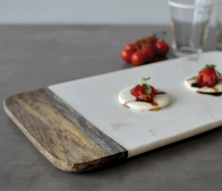 Caravan Marble & Wood Cheese Board Rectangle - Lothantique Canada