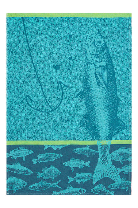 Coucke Poissons Blue Tea Towel
